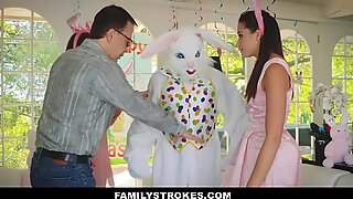 FamilyStrokes - steamy teenager pulverized By Easter Bunny Step Uncle