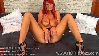 Redhead Big Boobs hairy pussy Dildo Fuck Porn natural