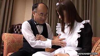 Hot maid Himeki Kaede gets her twat rammed