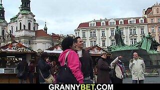 Hairy granny tourist