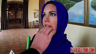 Arab slut loves grabbing her horny boss s big fat cock