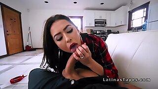 Hot Latina wife fucks big cock cop pov