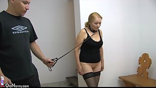 OldNanny Granny like BDSM practices and fucked hard