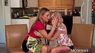 Scissoring stepmother lesbian milf rims teen