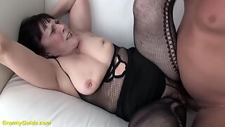 68 years old grandma first time big cock fucked