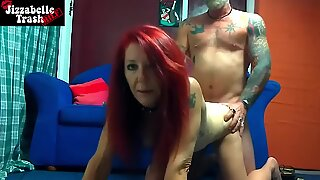Redhead Lady Friend Puts Blindfold On And Blows Off Bfs Dick