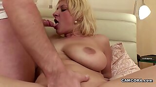 Step-Son caught German Mom Masturbation and helps with fuck