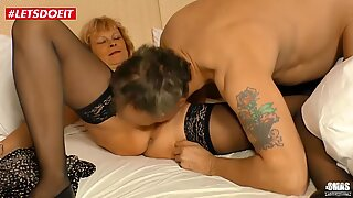 German granny slut gets pounded by a hard cock