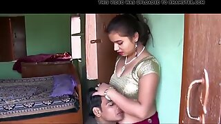 Hot Village Bhabhi Hot Romance With Electric Machine Boy
