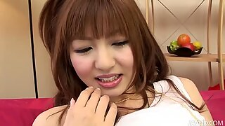 Teen pussy of Aisaki Kotone gets licked in upskirt action