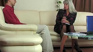 51yo lady-boss Elena recruits through fucking