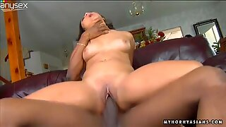 Asian pussy of Lana Violet gets screwed by black monster cock