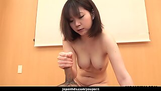 Titty fucking the dick with her Asian mouth