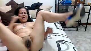 Hot 50 year old Latina MILF granny teasing on webcam