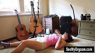 Hairy Rosie Masturbating On The Floor