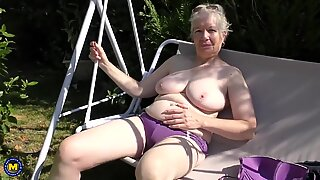 Granny makes her first porn video