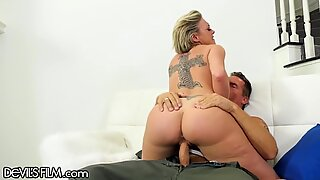 DevilsFilm MILF Squirts Gushers on Military Hubby'_s Cock