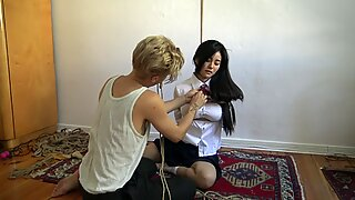 Kinbaku bondage - Me suffering in rope and shared an strenuous moment