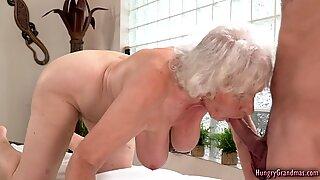 Sexy granny banged really hard