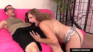 Thick Older Hoochie Jade Blissette Has Her Mouth and Cunt Fucked Hard