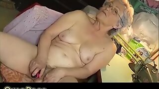 OmaPasS Two Videos with Toying Hairy Grannies