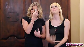 Cory chase suck on Chloe Cherrys pointy breasts and tight pussy just for the living