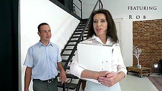 Elder real estate agent fucks a younger man