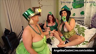 Hot BBWs Angelina Castro Sam 38g &amp_ Trinity G - Dildo Fuck!