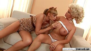 GILF Effie Sharing A Cock With Teen