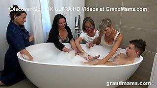 My First Grandma Orgy in a Classy Bathroom