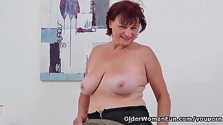 European gilf Danja needs to orgasm