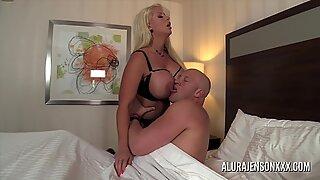 Big tit MILF Alura Jenson has her tight pussy impaled