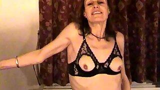 Mature milf stripping