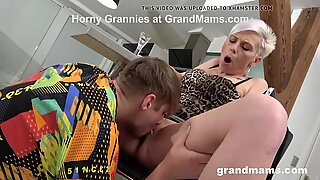 Fucking Spicy Granny for the First Time!