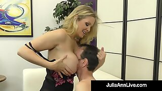 Potty Mouth Milf Julia Ann Gives Her Boy Toy Orders & Gets Calves Fucked!