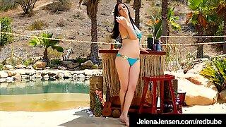 Penthouse Pet Jelena Jensen Rubs Her Throbbing Twat!