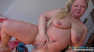 EuropeMaturE Busty Mature Nina Striptease Showoff
