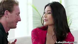 Brenna Sparks does Nuru massage on a Fiance