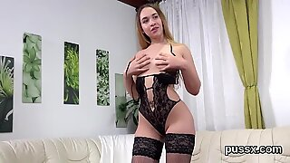 Innocent czech cuties stretch their asses with anal plug and fat fuck toys