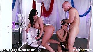 Kendra Lust and Kiera Winters invite Johnny Sins to a threesome