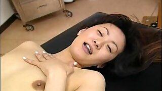 Asian pale slut sucking on the small cock pov