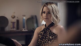 Sexy MILF Kit Mercer takes extra care to her injured stepson Codey Steele. She noticed that he is horny and helps him plesures himself.