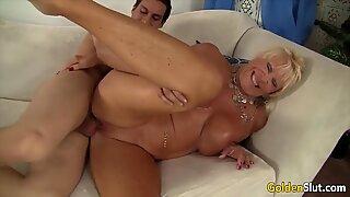 Golden Slut - Naughty Grandmas Getting Dicked Compilation 1