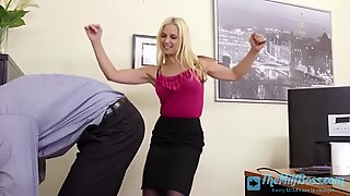 Cock Hungry Milf Fucked in the Office