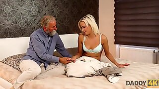 DADDY4K. Blonde angel doesnt need flowers but wants mature