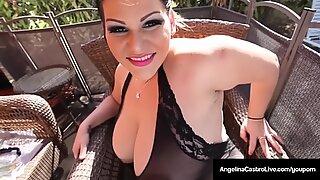 Cuban Queen Angelina Castro Bangs Her Backdoor & Cums Hard!