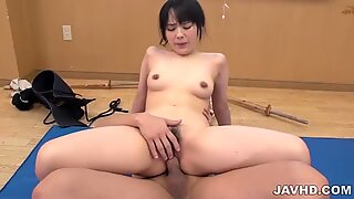 Ruka Kanae enjoys sliding her tits over the hard cock
