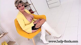 Busty mature Lady Sonia wants to masturbate with you