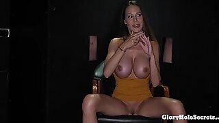 Huge titty milf sucks strangers cocks and eats their cum