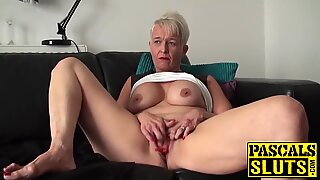 Dirty mature whore was waiting all day to be his sex slave